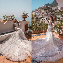 $enCountryForm.capitalKeyWord Australia - Vintage Luxurious Mermaid Wedding Dresses Off Shoulder Plus Size Bridal Gowns Hook Back Wedding Gowns Custom Made