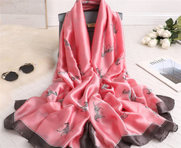 $enCountryForm.capitalKeyWord NZ - Air-conditioned shawl girl 2019 new silk imitation summer beach sunscreen oversize beach towel multi-functional scarves