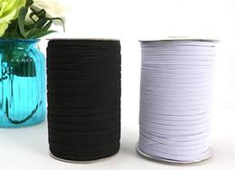 Ingrosso 200yards / bianco e nero di nylon elastici qualità cintura elastica 1/8 elastico scarno 3 millimetri Larghezza per i pantaloni di abbigliamento cucito Accessori fai da te