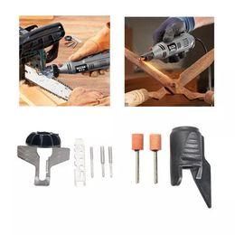 Tools Drills Adapter Australia - HILDA Chain Saw Sharpening Attachment Sharpener Guide with Garden Tool Sharpener Drill Adapter