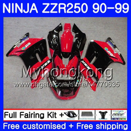 1993 kawasaki fairing online shopping - Bodywork For KAWASAKI NINJA ZZR ZZR250 HM ZZR250R ZZR Factory red new Fairings