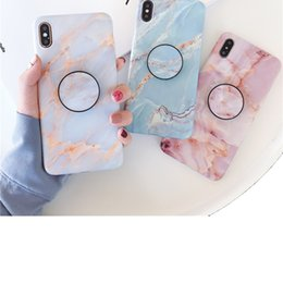 Designs For Iphone Cases Australia - Fashion Marble Design Phone Case for iPhone XS MAX XR X 8 7 6S Plus Hot Selling Soft TPU phone cases with Bracket