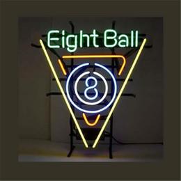 $enCountryForm.capitalKeyWord Australia - New Star Neon Sign Factory 17X14 Inches Real Glass Neon Sign Light for Beer Bar Pub Garage Room Eight Ball Billiard Hall.