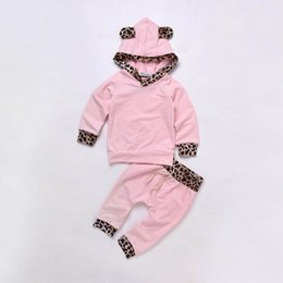 $enCountryForm.capitalKeyWord NZ - 2019 Brand Newborn Infant Baby Girls Clothes Sets 2PCS Long Sleeve Hooded Tops Leopard Print Pants Kids Cute Pink Outfits