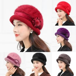 e67fd6a29f80f New Elegant women s hat Knitted winter hat for women Solid Cap Bow Autumn  Ladies Female Fashion Beret Rabbit hair HX0129