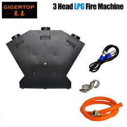 stage fire light 2021 - TIPTOP TP-T154B Hot Sale Flame Thrower DJ Band Stage Show Effect - DMX Fire Projector Machine - China Stage Light 3 Head Jet 3 Nozzle