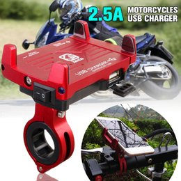 Motorcycle cell phone charger online shopping - Universal Aluminum Motorcycle Phone Holder USB Charger Cell Phone Holder Bicycle for iPhone X Fast Charging