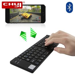 ios laptop 2018 - CHYI Foldable Bluetooth Wireless Keyboard With Phone Holder Twice Folding BT Portable Keypad For IOS Android Tablet Ipad