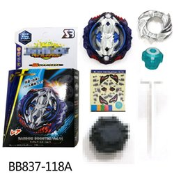 Детские классические игрушки 4D Beyblade Burst Booster Vol.11 BB837-118A с пусковым механизмом Волчок Игрушечные игры Fight Finger Toy с ручкой пускового