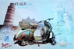 $enCountryForm.capitalKeyWord NZ - italy car mancave plinup girl 20*30cm blond beauty motorbicycle Tin Sign Coffee Shop Bar Restaurant Wall Art decoration Bar Metal Paintings