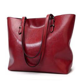 $enCountryForm.capitalKeyWord Australia - Hot Selling! Fashion Oil Wax Leather Women's Messenger Crossbody Bag Large Tote Women Leather Handbags Female Shoulder Bag Red Y19062003