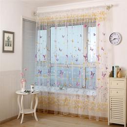 $enCountryForm.capitalKeyWord NZ - decorative curtains butterflies Screens Door Balcony modern voile Curtain Panel Sheer curtains for living room Children Bedroom