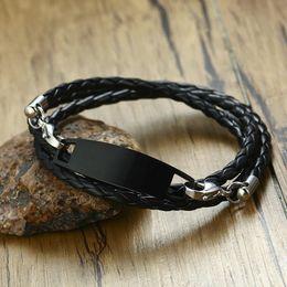 971e6dc81528b Black Stainless Steel Id Bracelet Online Shopping   Black Stainless ...