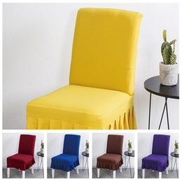Office high chair online shopping - Fashion Simple Pure Color Chair Cover High Elasticity Chair Cover Hotel Household General Office Computer Chair Cove cushion T3I5007