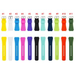 samsung smart watches Australia - 11 Colors Orginal Silicone Strap For Samsung Gear S3 Frontier Watch Sports Pure Color Watchbands for samsung smart watches