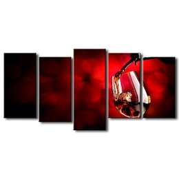 $enCountryForm.capitalKeyWord UK - 5 pieces high-definition print Red wine canvas oil painting poster and wall art living room picture HJ-007
