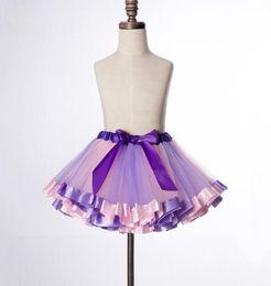 Baby Pettiskirts Tutus Australia - wholesale Sweet Girls Tutu Skirts Baby Girls Fluffy Pettiskirts Skirt Princess Girl Ball Gown skirt Dance Wear Party