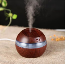 grain machines Australia - 300ml USB Electric Aroma Diffuser Led Wood Grain Air Humidifier Essential Oil Aromatherapy Machine Cool Purifier