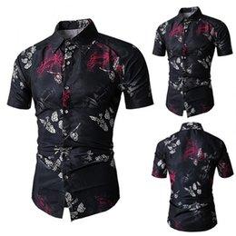 $enCountryForm.capitalKeyWord NZ - Summer Men Floral Shirt Short Sleeve Stand Collar Flowers Printed Beach Travel Casual Shirts M-3XL