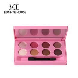 House Plates Australia - 3CE EUNHYE HOUSE Brand Makeup Eyeshadow pallete 4 Colors Option Beauty 8 Colors Eyeshadow Plate Natural Shimmer Matte Eyeshadow