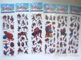 pvc waterproof sheets Canada - 200 Sheets Spiderman DIY Stickers 3d Cartoon Children Girls Stickers Kids Boys Toys Waterproof PVC Scrapbook pegatinas