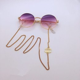 2pcs luxury CC designer sunglasses chain readingglasses chain letter decoration anti-slip rope string neck cord retainer silicon loop on Sale