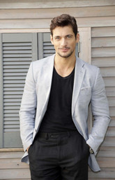$enCountryForm.capitalKeyWord Australia - Latest Coat Pant Designs Light Grey Men Suits Casual Linen Summer Beach Custom Slim Fit Blazer 2 Pieces Tuxedo Jacket+Pants