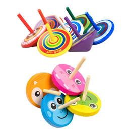 Unisex Wood Toy Australia - Kids Wood Gyro Toys Children Adult Relief Stress Desktop Spinning Top Toys Kids Birthday Gifts Random Color