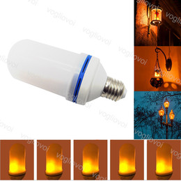 Wholesale E27 SMD W modes LED Flame Effect Fire Light Bulbs Flickering Emulation Decorative Flame Lamps For Christmas Halloween Decoration EUB