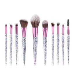 EyEbrow makEup glittEr online shopping - Professional Makeup Brushes Set diamond glitter Foundation Eyebrow Eyeshadow Brush Cosmetic Brush Tools Pincel Maquiagem