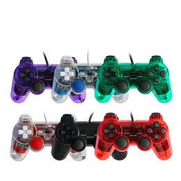 ps2 console games 2020 - PS2 Wired Gamepad Controller PS2 Wired Handle Playstation Joystick Joypad DualShock Game Console 6Colors Free DHL cheap