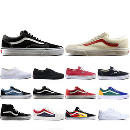 Canvas art for red wall online shopping - 2019 New THE WALL old skool Wans FEAR OF GOD For men women canvas sneakers YACHT CLUB MARSHMALLOW fashion skate casual shoes