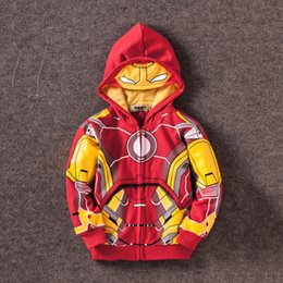 baby cottons outlet NZ - Outlet Avengers Jackets Coats Boys Iron Man Thor Hulk Spider Man Baby Boys Clothes Costume Kids Jackets Hoodie Child Top Tees T Shirts