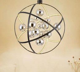 $enCountryForm.capitalKeyWord Australia - Modern Black Metal Led Pendant Light Chrome Glass Ball Living Room Led Pendant Lamp Dining Room Pendant Light Led Hanging Lights MYY