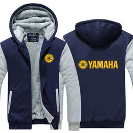 Fashion for yamaha logo Cotton Zipper Autumn Hoodies Jacket Men Clothes Fashion Hooded Outdoor sports warm Hoodies jacket from autumn cotton white dark suppliers