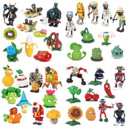 zombie toys for kids Canada - 8-10pcs set Plants VS Zombies PVC Action Figure Model Toys PVZ Collection Figurines Kids Toys Gifts for Children 2-8cm LY191210