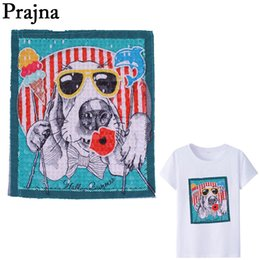 $enCountryForm.capitalKeyWord Australia - Prajna Cartoon Dog Embroidery Sewing On Clothes Sequin Patches Icecream Lips Backpack T-Shirt Patch Badge Decor Appliques E