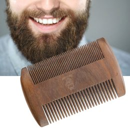 TemplaTe Tools online shopping - Sandalwood Mustache Anti Static Shaper Styling Comb Tool Beard Shaping Comb Hair Beard Trim Template Combs