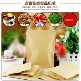 "kraft paper zipper foil Australia - 100 Pcs 8*11cm (3.1""*4.3"") Valve Zipper Small Kraft Paper Aluminum Foil Bag Coffee Tea Powder Food Storage Pack Zip Lock Pouch"