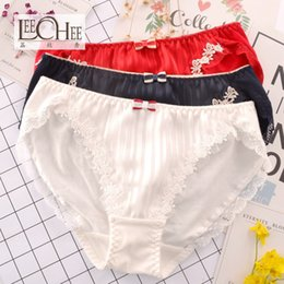 packaging bikini 2019 - Japanese single new foreign trade Japanese girls underwear cotton comfortable middle waist cotton large size package hip