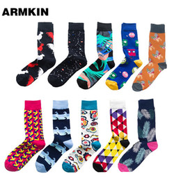 $enCountryForm.capitalKeyWord Australia - ARMKIN 2019 New Style Hiphop cotton Men's Socks Harajuku Happy Funny socks flamingo Air Print for Male Wedding Christmas