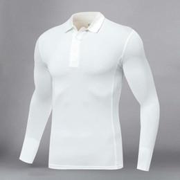 Großhandel 2020 neue Art und Weise T-Shirt-beiläufige lange Hülsen-dünnen grundlegenden Männer Das Hemd Golf Shirt Laufen T-Shirt Fitness-Bekleidung