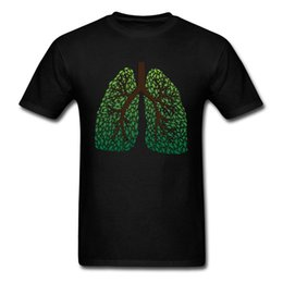 Tee Tree Australia - Leaf Lung Tree Cotton Fabric Normal Tops Shirts Discount Short Sleeve Men T-shirts Design Labor Day Tee-Shirts O Neck