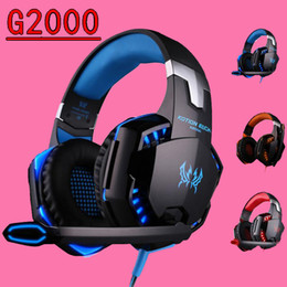 Computer Wireless Headphone Microphone Australia - Gaming Headphones Stereo Noise Cancelling Headsets Studio Headband Microphone Earphones With LED Light For Computer PC Gamer EACH G2000