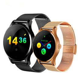 Bluetooth Smart Watch Huawei Australia - K88H Smart Watch Round Screen Support Heart Rate Monitor Bluetooth SmartWatch For Apple Huawei Xiaomi Phone IOS Android