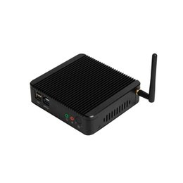 Free shippingDual Lan Intel celeron J1900 fanless mini portable PC VGA HD Dual LAN HTPC VESA Mount on Sale