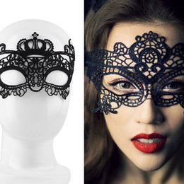 Sexy half maSkS online shopping - Sexy Lady Lace Mask Eye Mask For Masquerade Ball Party Halloween Costume