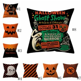 Wholesale Halloween Pillowcases Cover Pumpkin Shark Striped Throw Pillow Case Home Sofa Car Decorative Xmas Home Decorative Without Core EEA186