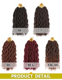 crochet hair 12 inch 2019 - Faux Locs Twist Braids Curly Ends 12 inch Faux Locs crochet Hair 12roots piece Synthetic Brading hair extensions cheap c