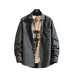 Discount soft denim casual shirts - Men Jean Shirt 100% Cotton Jean Shirt 2019 Spring Autumn Casual Long Sleeve Shirt Soft Comfort Slim Fit Styles